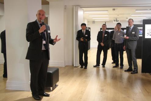 Professor David Phoenix speaking at opening event