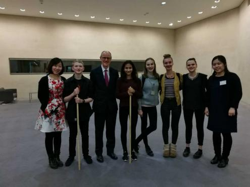 Fortismere Students with Nick Gibb, British Minister for State of Schools