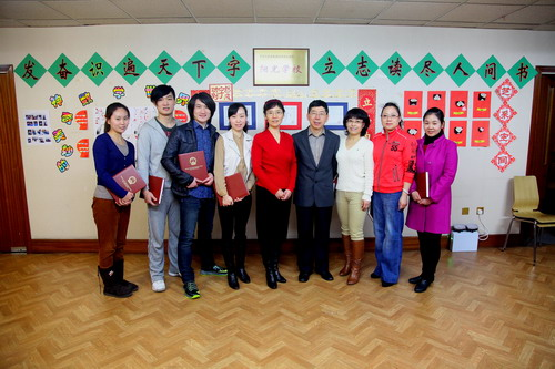 Group photo with all CITCM teachers-Mme Hu Ping Hua (left 5); Counsellor Xu Jingli (right 4)
