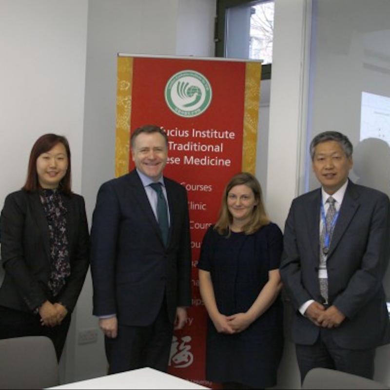 Council Leader visited LSBU's Confucius Institute