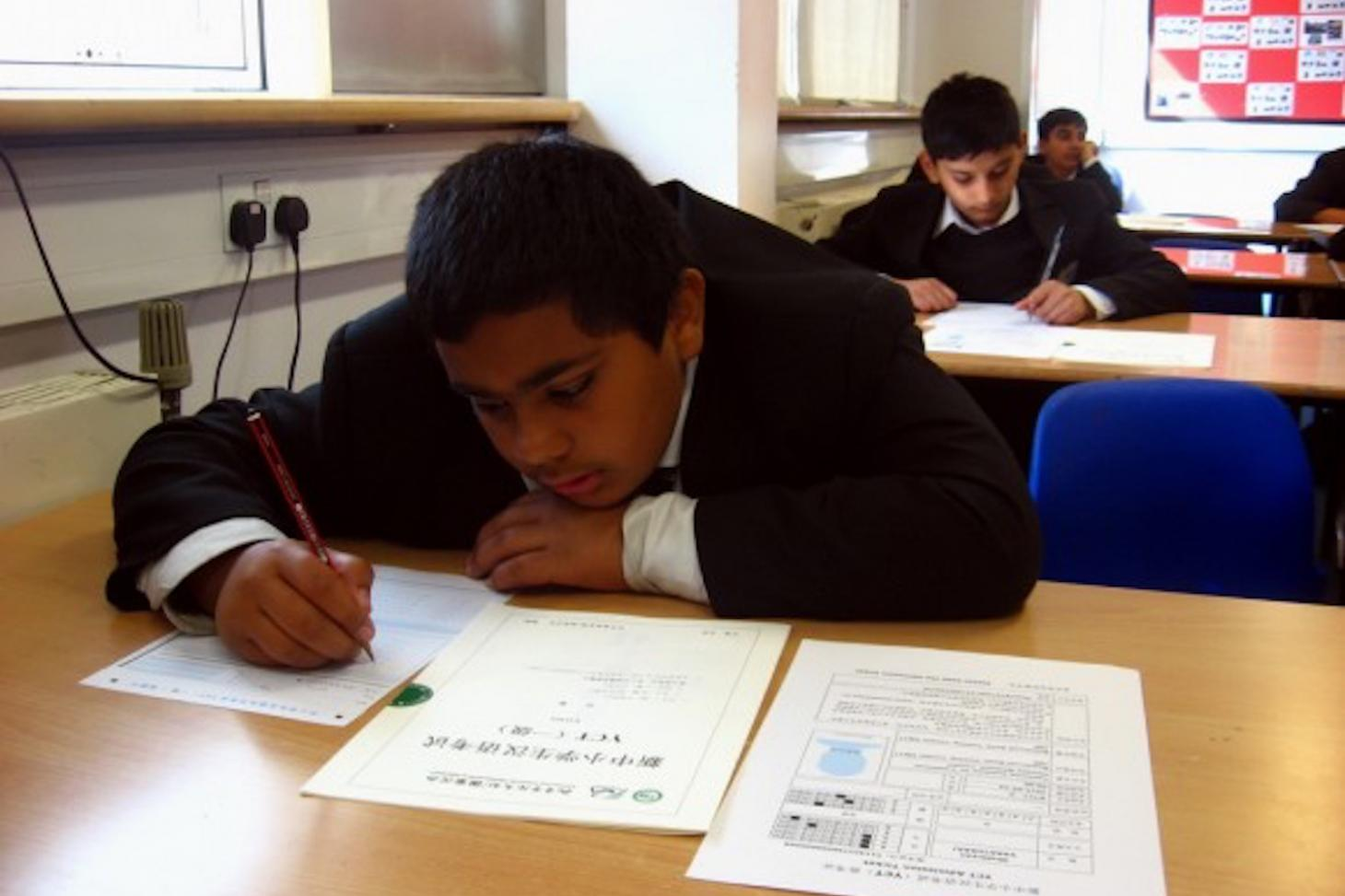 Ernest Bevin College Confucius Classroom student taking YCT