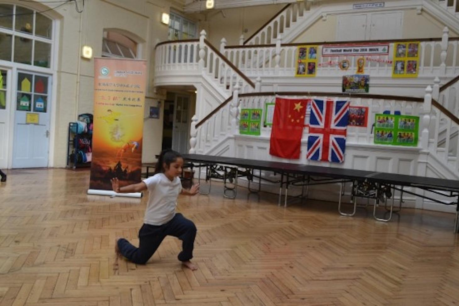 Fircroft Primary School girl's performance in martial arts competition