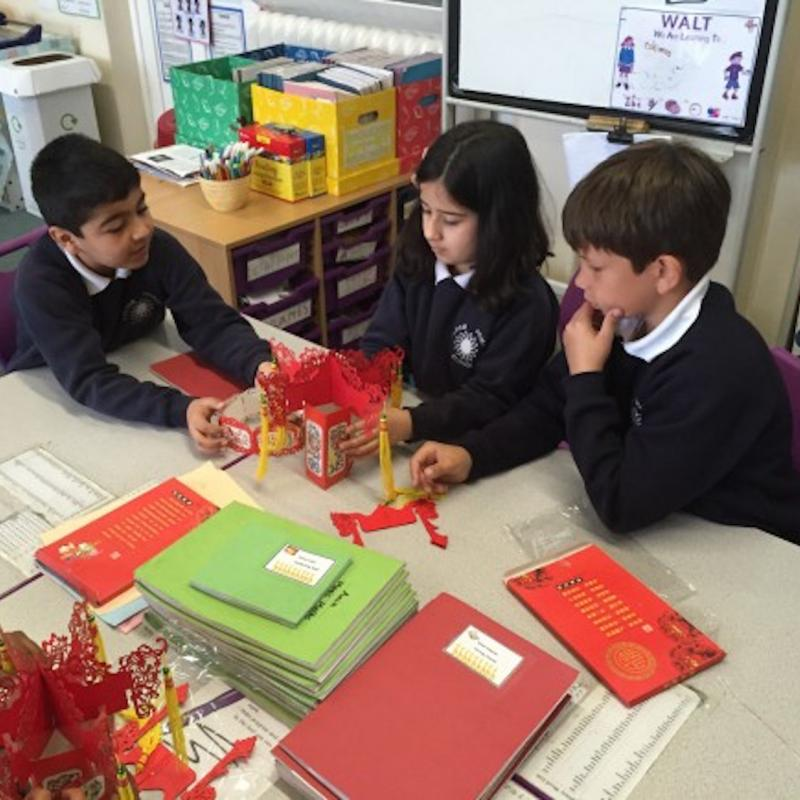 CITCM's lantern Workshop on Fulham Primary School's International Day