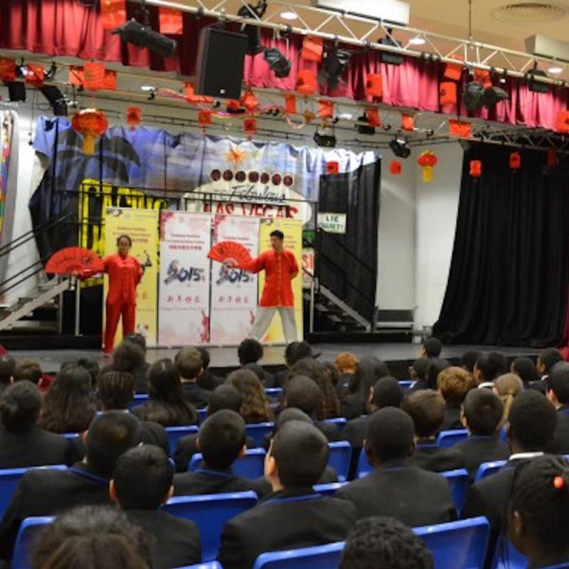 Chinese New Year Celebration Delighted students at The Petchey Academy in Hackney