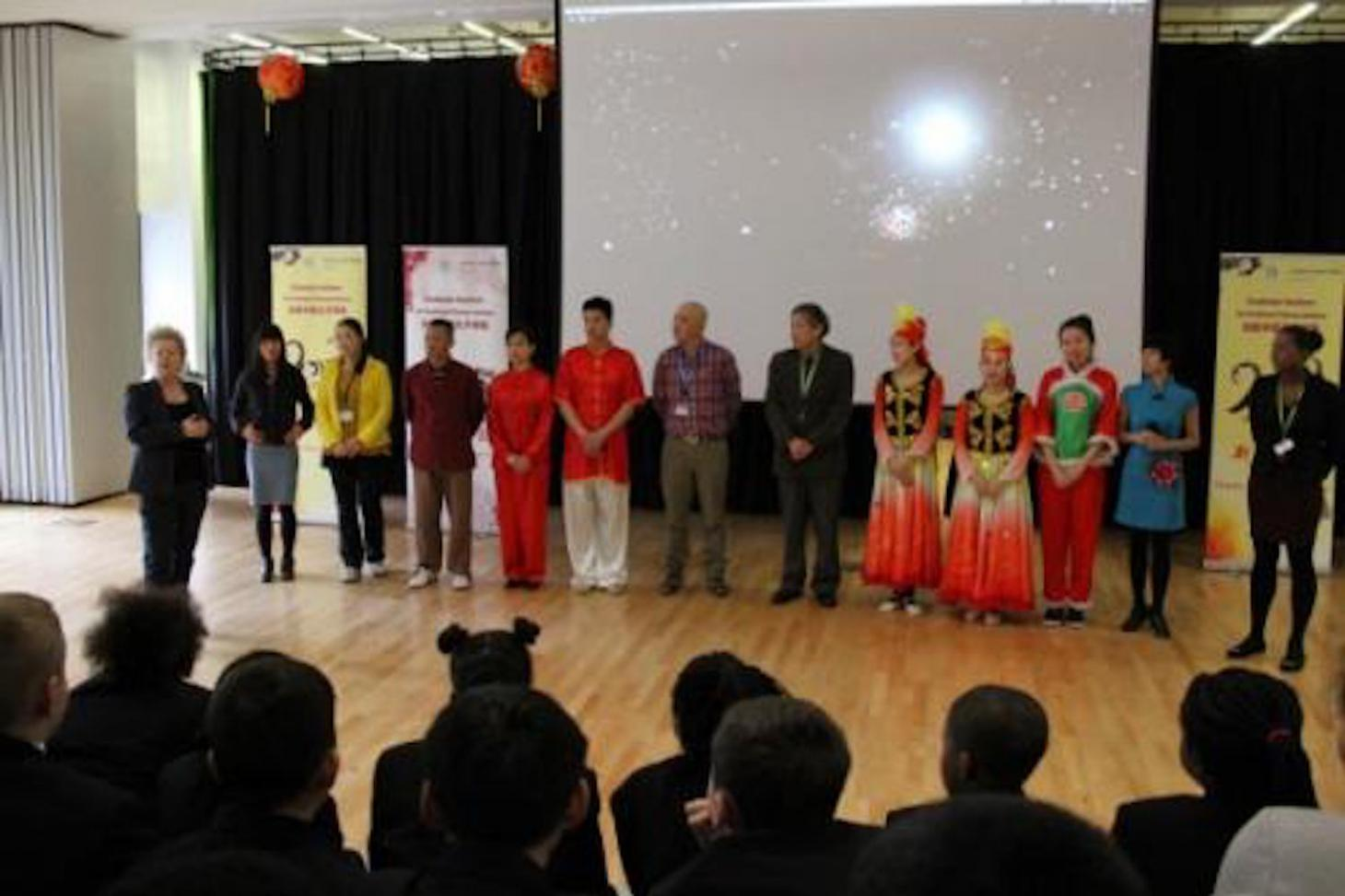 The Principal introducing the performers and honoured guests