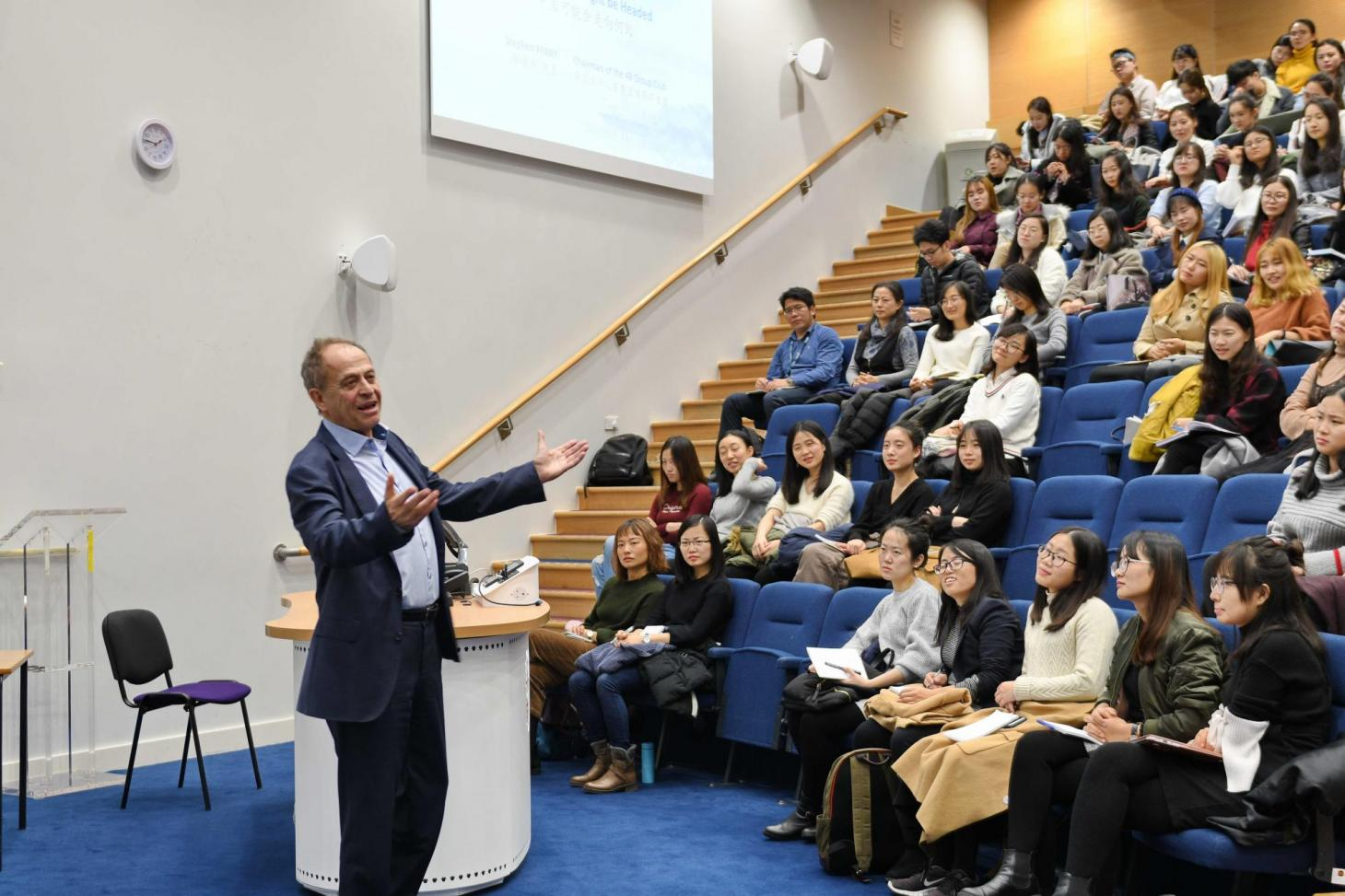 lecture given by Stephen Perry about where China goes to